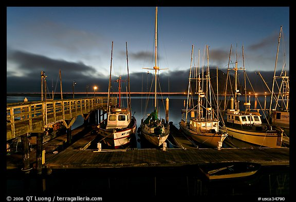 Harbor at dusk. Morro Bay, USA
