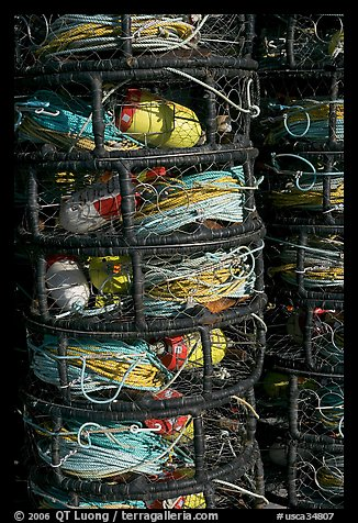 Crab traps close-up. Morro Bay, USA