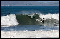 Surfer and wave. Morro Bay, USA