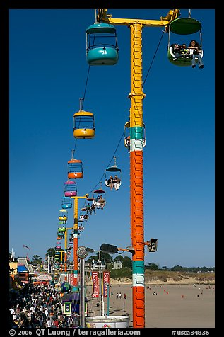 Boarwalk and aerial gondola. Santa Cruz, California, USA