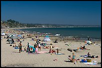 Beachgoers, Capitola. Capitola, California, USA ( color)