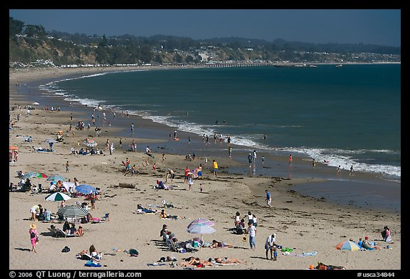 New Brighton State Beach, afternoon, Capitola. Capitola, California, USA (color)
