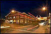 Cannery row at night. Monterey, California, USA ( color)