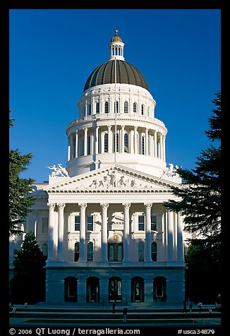 State Capitol of California, late afternoon. Sacramento, California, USA (color)