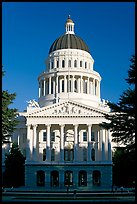 State Capitol of California, late afternoon. Sacramento, California, USA