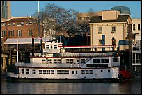 Spirit of Sacramento riverboat,  late afternoon. Sacramento, California, USA (color)