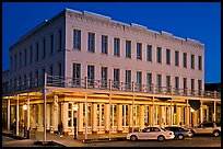 Gold-rush area building at night,  Old Sacramento. Sacramento, California, USA ( color)