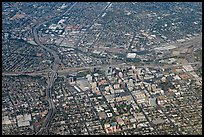 Aerial view of downtown. San Jose, California, USA ( color)