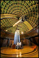 Refractive telescope, Lick obervatory. San Jose, California, USA ( color)