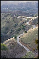 Winding road on the Mount Hamilton Range. San Jose, California, USA (color)
