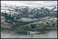 Joseph Grant Park and Mount Hamilton Range with snow. San Jose, California, USA