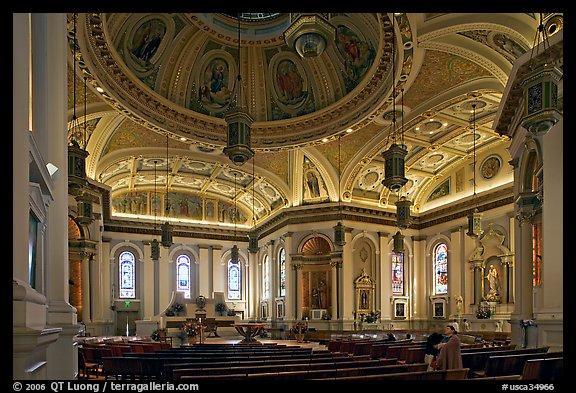 picture photo interior of cathedral saint joseph san jose