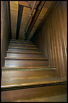 Staircase leading to closed ceiling. Winchester Mystery House, San Jose, California, USA ( color)