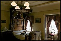 Room where Mrs Winchester died. Winchester Mystery House, San Jose, California, USA