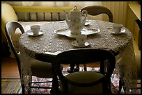 Dining table. Winchester Mystery House, San Jose, California, USA (color)