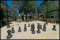 Giant Chess set. Santana Row, San Jose, California, USA (color)