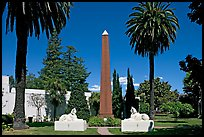 Sphynx and Obelisk, Rosicrucian Park. San Jose, California, USA