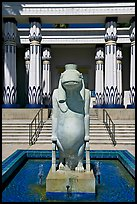 Statue of Taweret, egyptian hippo goddess of fertility, Rosicrucian Museum. San Jose, California, USA ( color)