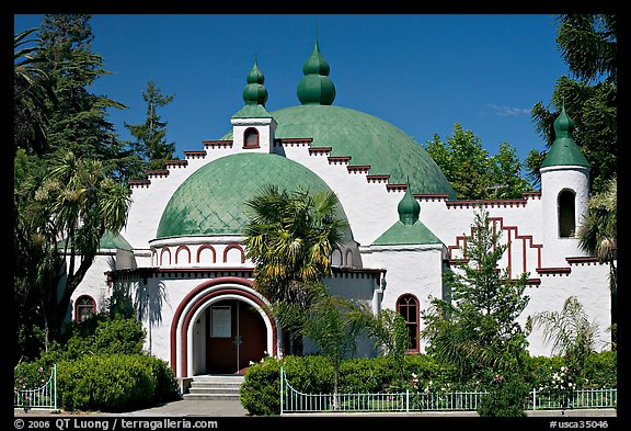 Planetarium in moorish style, Rosicrucian Museum. San Jose, California, USA (color)