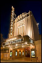 California Theatre at night. San Jose, California, USA (color)