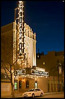 California Theater at night. San Jose, California, USA