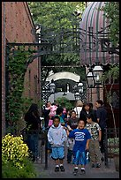 Hispanic family, San Pedro Square. San Jose, California, USA ( color)