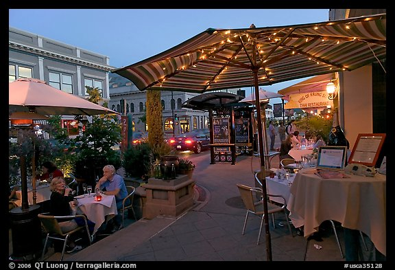Restaurant Dining On Outdoor Tables Castro Street Mountain View California Usa