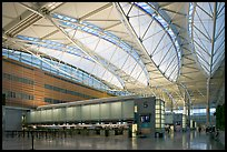Main hall, San Francisco International Airport. California, USA ( color)