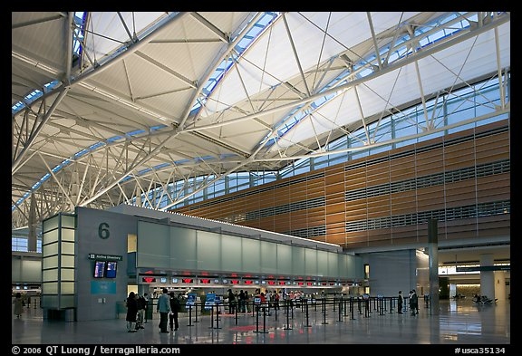 San Francisco International Airport interior. California, USA