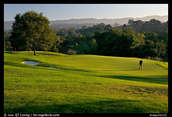 Stanford Golf Course. Stanford University, California, USA (color)