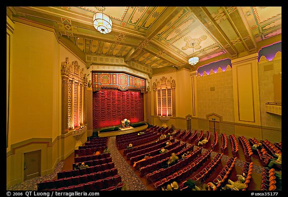 Stanford Theatre in Art Deco style. Palo Alto,  California, USA