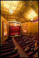 Stanford Theater in Art Deco style. Palo Alto,  California, USA ( color)