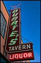 Neon sign for Duarte Tavern, Pescadero. San Mateo County, California, USA (color)