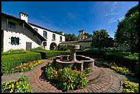 Court of Abundance, Allied Arts Guild, afternoon. Menlo Park,  California, USA (color)