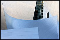 Steel curves, Walt Disney Concert Hall. Los Angeles, California, USA (color)