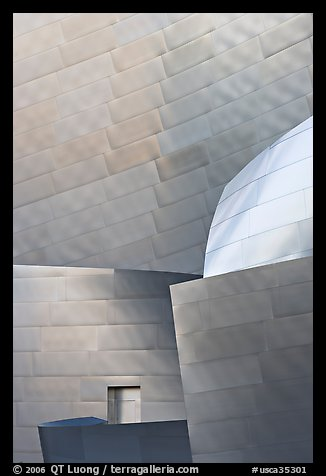 Steel Facade detail, Walt Disney Concert Hall. Los Angeles, California, USA