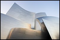 Stainless steel surfaces of the Gehry designed Walt Disney Concert Hall. Los Angeles, California, USA (color)