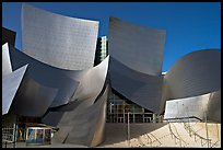 Main entrance of the Walt Disney Concert Hall. Los Angeles, California, USA