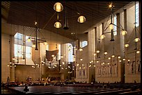 Main nave of the Cathedral of our Lady of the Angels. Los Angeles, California, USA