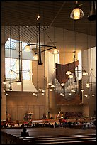 Interior of the Cathedral of our Lady of the Angels, designed by Jose Rafael Moneo. Los Angeles, California, USA