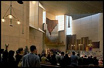 Interior of the Cathedral of our Lady of the Angels during Sunday service. Los Angeles, California, USA