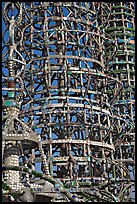 Detail, Watts towers. Watts, Los Angeles, California, USA ( color)