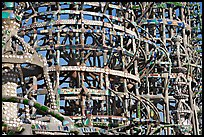 Detail, Watts towers, a masterpiece of folk art. Watts, Los Angeles, California, USA ( color)