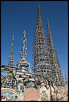 Overview of the Watts Towers. Watts, Los Angeles, California, USA ( color)