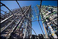 Simon Rodia  Watts Towers. Watts, Los Angeles, California, USA (color)