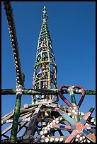 Detail of Watts Towers showing a heart. Watts, Los Angeles, California, USA (color)