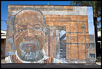Mural, Watts Towers Art Center. Watts, Los Angeles, California, USA (color)