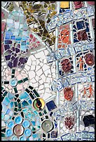 Mosaic Detail, Watts Towers Art Center. Watts, Los Angeles, California, USA (color)