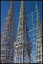 Three towers and hearts, Watts Towers. Watts, Los Angeles, California, USA ( color)