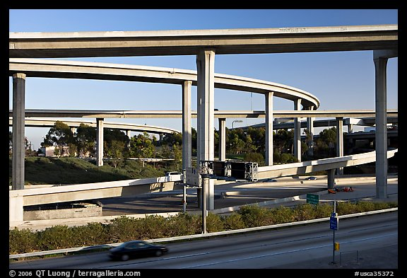 Highway interchange, Watts. Watts, Los Angeles, California, USA